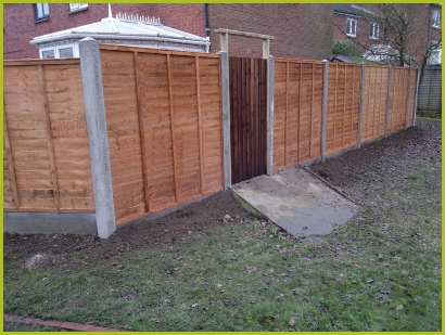 Fencing Installed By Redditch Based Landscapers/Landscape Gardeners