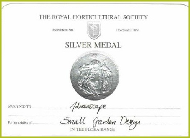 We Were Awarded A RHS Silver Medal For Our 'Very Moorish' Garden