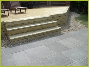 Professional Landscaping Installation Of Decking In Redditch