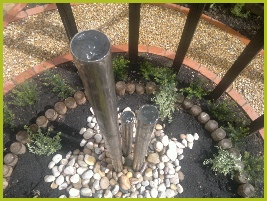 Stainless Steel Water Feature Installed In Redditch