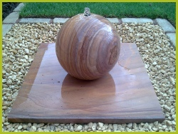 Stone Ball Water Feature Installed In Redditch